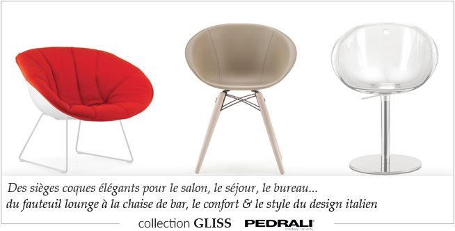 Collection de sièges design Gliss Pedrali