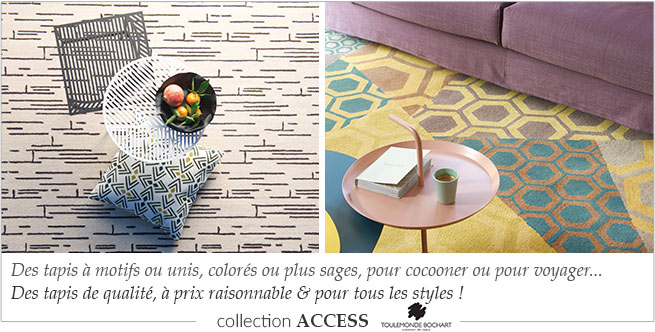 Collection de tapis contemorains Access Toulemonde Bochart
